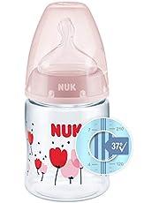 NUK First Choice+ nappflaska   0-6 månader   Temperaturkontroll   Antikolik-ventil   150ml   BPA-fri   Dinapp i silikon   Rosa