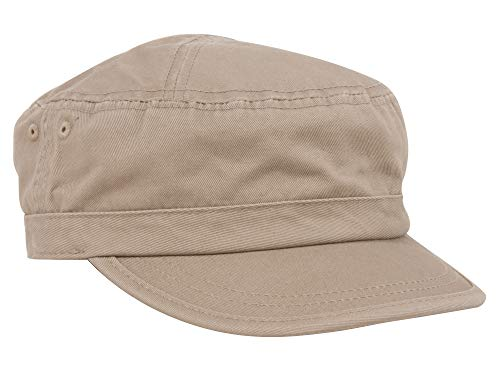 Enzyme Regular Solid Army Caps-Khaki W35S45D (One - Large Visors Billed