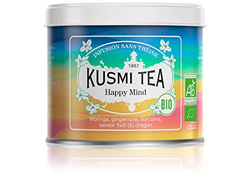 Kusmi Tea – biologische kruidenthee Happy Mind – melange van planten, specerijen en appel met de smaak van drakenfruit…