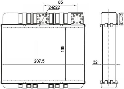 NRF 54277-NRF 54277 W/ärmetauscher Innenraumheizung