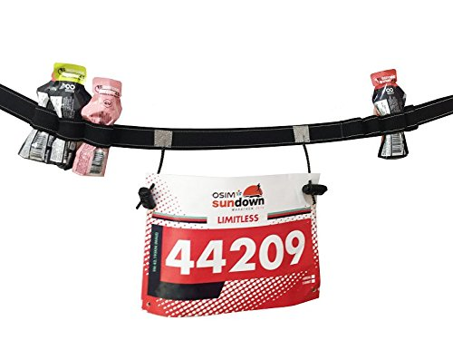 Maacool Running Belt Number(6 Gel Loops) Running Cycling Triathlon race (Black) (Running Numbers compare prices)