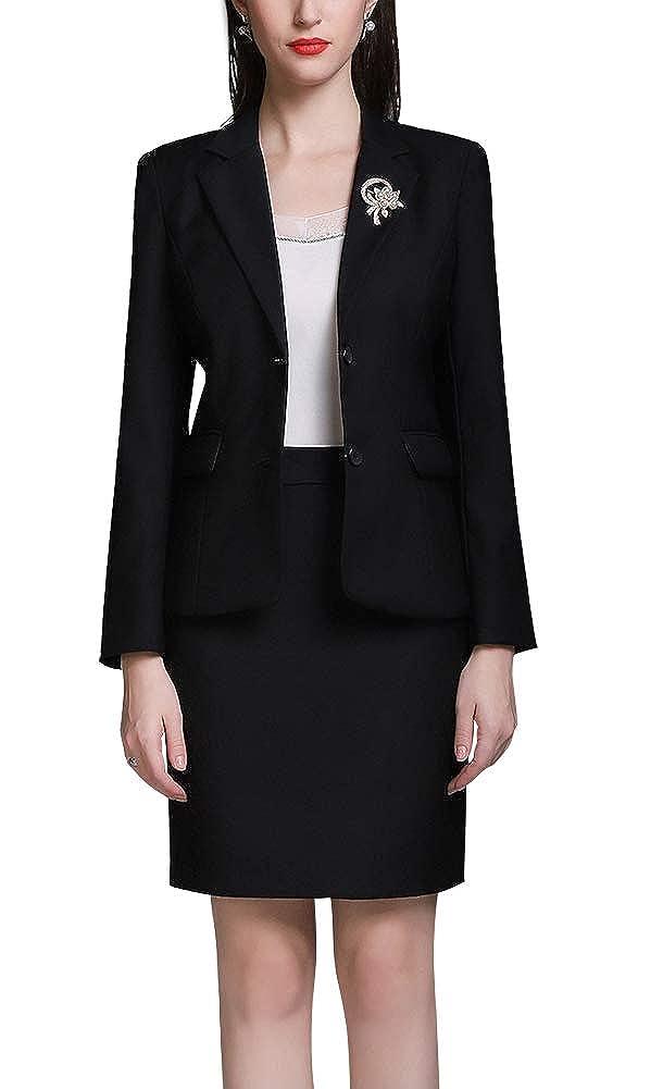 Black SUSIELADY Women Blazers Two Pieces SingleBreasted Button Work Office Ladies Blazer Suit Jacket&Pant Business OL Coat