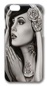 iPhone 6 Case,Tattooed Art PC Hard Plastic Case for iphone 6 4.7 inch 3D
