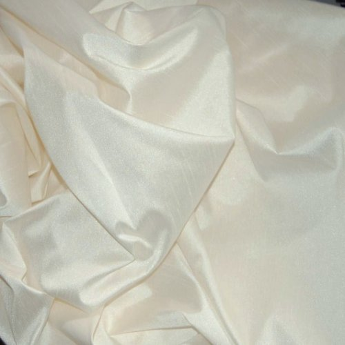 FAUX SILK DUPIONI FABRIC POLY DUPION IVORY (BY THE YARD)