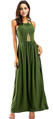 Plissee kleid lang grun