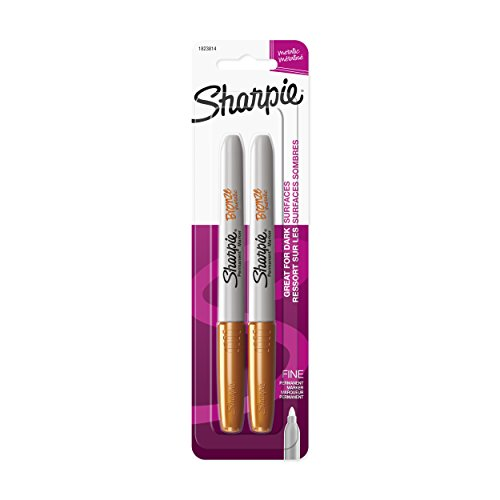 Sharpie Metallic Fine Point Permanent Marker, Bronze, 2-Pack (Markers Cell Cd)