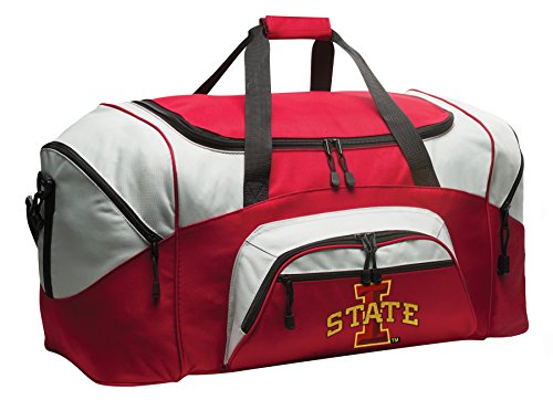 (Broad Bay Deluxe Iowa State Suitcase Duffel Bag or Large ISU Cyclones Gym Bag Gear Duffle )