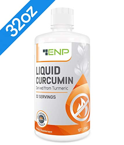 Liquid Turmeric Curcumin Supplement | 32 oz. | 1000 mg Highly Bioavailable Vitamin Increases Absorption | Joint Pain Relief | Anti-Inflammatory, Antioxidant | Non-GMO, USA Made