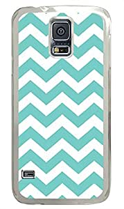 top Samsung Galaxy S5 covers Blue Chevron PC Transparent Custom Samsung Galaxy S5 Case Cover