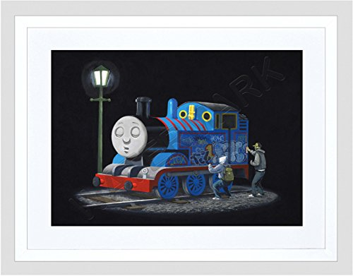 - Banksy Thomas Tank Engine Graffiti Street Art 12x16'' Framed Art Print F12x11875