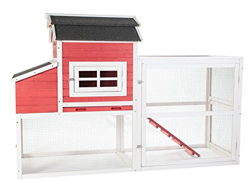 SummerHawk Ranch Barn Asphalt Chicken Coop, Vintage Red