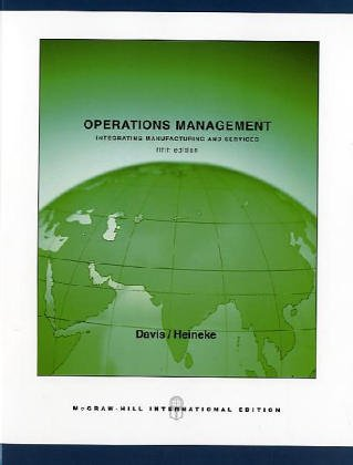 Operations Management: Integrating Manufacturing and Services [With CD (Audio)] by Irwin/McGraw-Hill