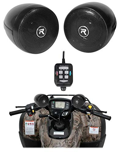 Rockville RockNRide Bluetooth Audio System w/Speakers+Controller for ATV/Cart