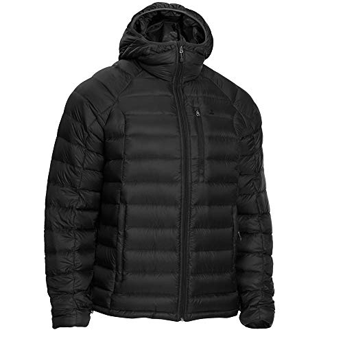 Eastern Mountain Sports EMS Men's Feather Pack Hooded Black XL