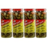 Marconi Giardiniera in Oil Hot (Chicago Style) 16.0 OZ(Pack of 4)