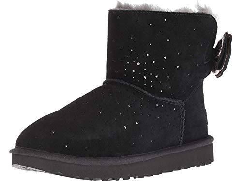 UGG Women's W STARGIRL Bow Mini Fashion Boot, Black, 8 M US (Mini Boots Women)
