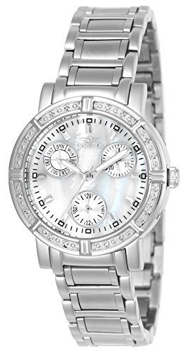Swiss Quartz Stainless Steel Dress Watch, Color:Silver-Toned (Model: INVICTA-4718) ()