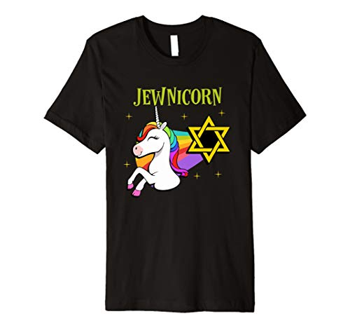 Rainbow Unicorn T-Shirt Halloween Costume Hanukkah -
