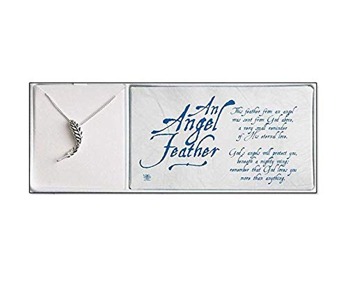 (Dicksons Silver Plated an Angel Feather Necklace 18 inch Silver Plated Chain)