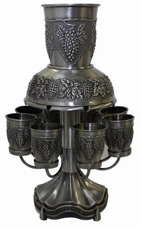 Pewter Giftware - Majestic Giftware FWA04710KH 8-Cup Wine Fountain, 11.5-Inch, Pewter Plated by Majestic Giftware
