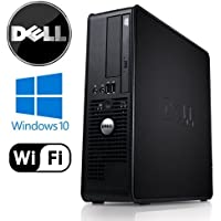 Dell 760 - Intel Core 2 Duo 3.33GHz, 4GB DDR2, New 1TB HDD, Windows 10 Pro 32-Bit, WiFi (Prepared by ReCircuit)
