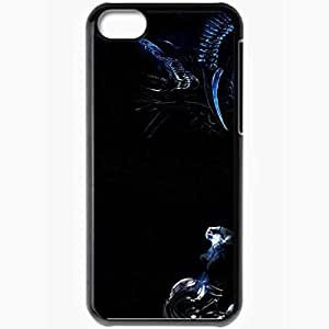 Personalized iPhone 5C Cell phone Case/Cover Skin Alien Vs Predator Black