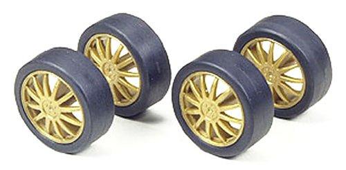 ラジ四駆 ロープロファイルタイヤ&ホイールセット(フィンタイプ) 「グレードアップパーツシリーズ No.294」 [15294]