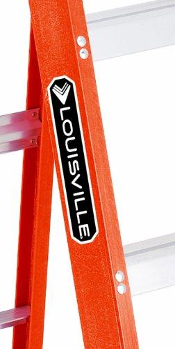 Louisville FS1502 Fiberglass Heavy Duty Step Ladder, 28 3/8'', 2-Step, Orange by Louisville Ladder (Image #2)