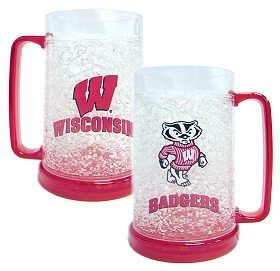 Caseys Wisconsin Badgers Crystal Freezer Mug by Casey's (Crystal Badgers Wisconsin)