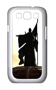 Samsung Galaxy S3 Case and Cover- Monk Statue Custom PC Case for Samsung Galaxy S3 / SIII / I9300 White