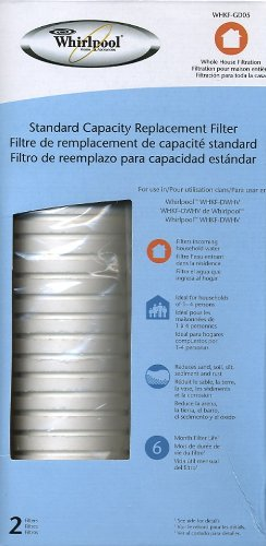 WHIRLPOOL Standard Capacity Whole House Filtration Replacement Filter (2 Pack) WHKF-GD05 (Packaging May Vary)