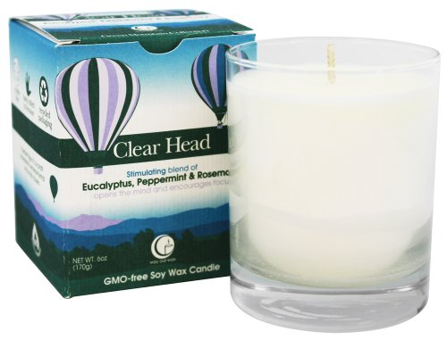 Way Out Wax Scented Candle; Clear Head (6 oz)