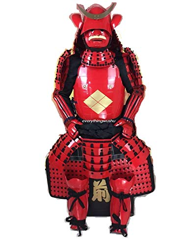 Handcrafted Japanese Samurai Armors Real Ancient Japanese Combat Armors Red