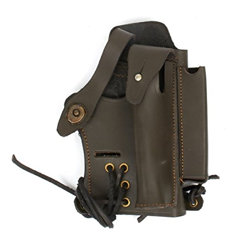 Walther P22 Mag - U.S. Walther P-22 Holster with Mag and Silencer Pockets- Brown Leather
