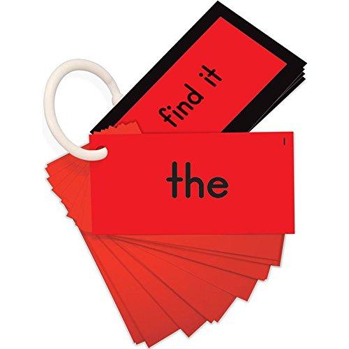 EZread Sight Word Mini Flash Cards: Dolch Pre-Primer (Red Set)