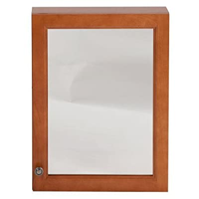 "18"" x 24"" Surface Wall Mount Casual Bathroom Medicine Cabinet with Mirror in Nutmeg -  - shelves-cabinets, bathroom-fixtures-hardware, bathroom - 415BGPu0DEL. SS400  -"