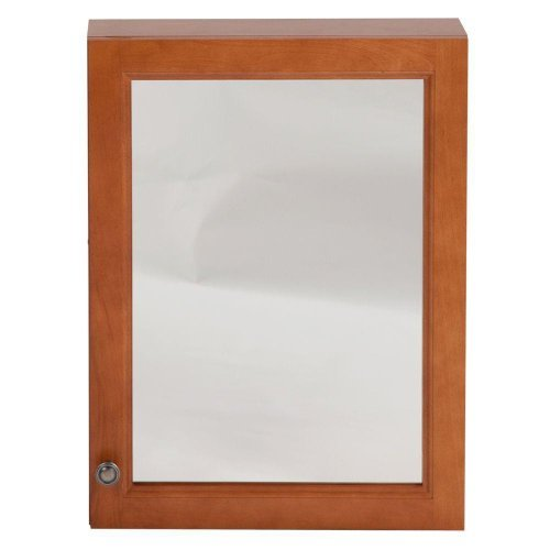 18'' x 24'' Surface Wall Mount Casual Bathroom Medicine Cabinet with Mirror in Nutmeg by Glacier Bay