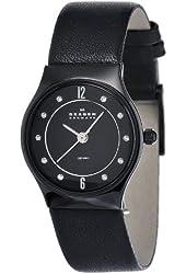 Skagen Women's 233XSCLB Ceramic Black Dial Watch
