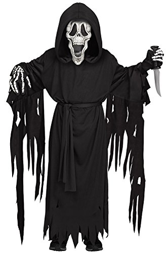 Fun World Big Boy's Skeleface Child Costume Childrens Costume, Black, Medium -