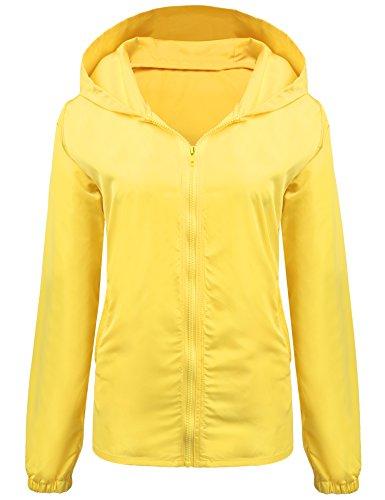 UNibelle Women's Lightweight Waterproof Rain Jacket Active Outdoor Hooded Raincoat Windbreaker