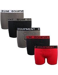Boys 5 Pack Solid Boxer Briefs Underwear