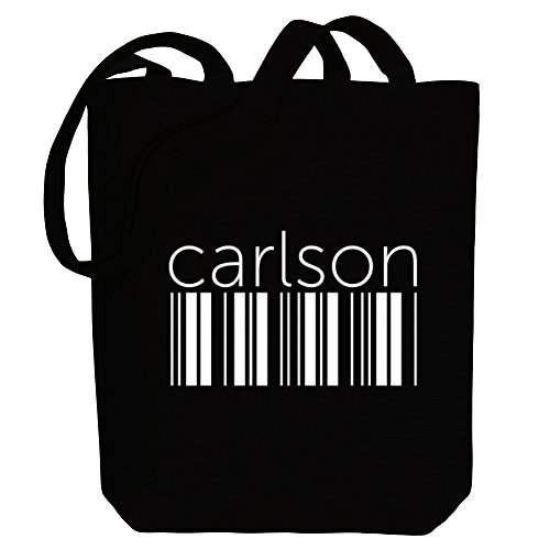 Carlson Carlson barcode Bag Names Last Canvas Tote barcode Canvas Last Tote Idakoos Names Idakoos Bag 8AwpWEqP