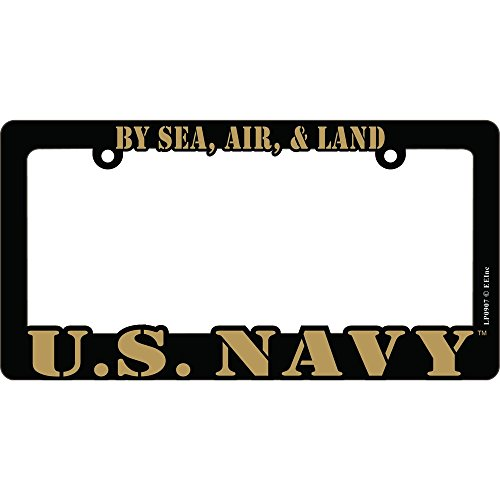 US Navy Proud to Serve Auto License Plate Frame USN ()