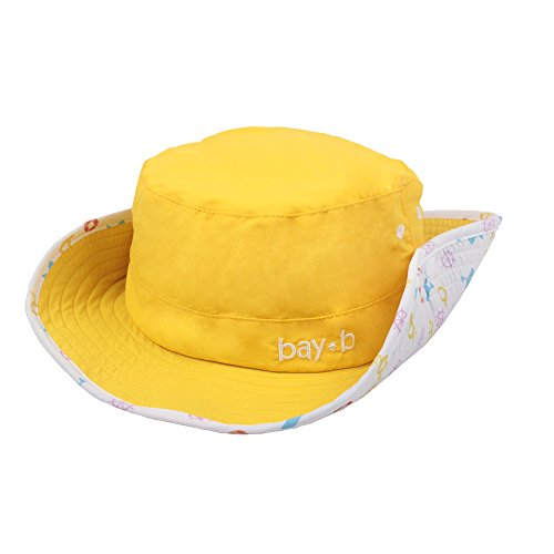 BAY-B Kids UPF 50+ Bucket Sun Hat UV Sun Protection Hats Yellow_ONE Size ()