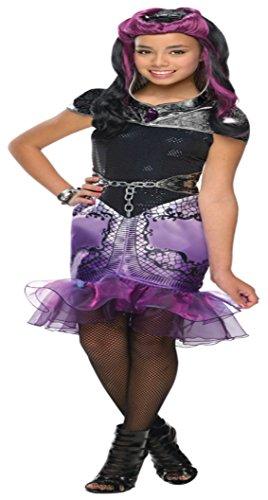[Girls Eah Raven Queen Kids Child Fancy Dress Party Halloween Costume, L (12-14)] (Raven Dc Costume)