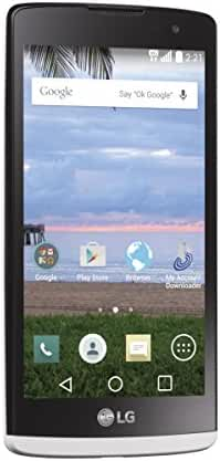LG Sunset L33L White Android Prepaid Phone with Triple Minutes (TracFone)
