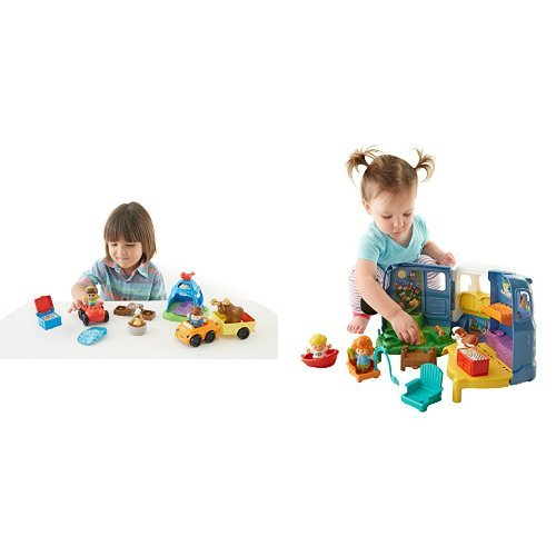 (Fisher-Price Little People Going Camping and Songs & Sounds Camper Bundle)
