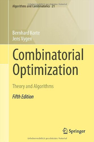 [PDF] Combinatorial Optimization: Theory and Algorithms Free Download | Publisher : Springer | Category : Computers & Internet | ISBN 10 : 3642244874 | ISBN 13 : 9783642244872