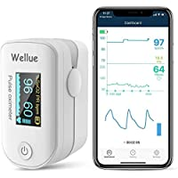 Monitor de Saturación de Oxígeno Bluetooth para el dedo, Monitor de Saturación de Oxígeno en la Sangre para el Ritmo…