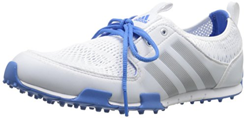 adidas Women's W CC Ballerina II Golf Shoe, Running White/Silver Metallic/Chambray, 7 M US